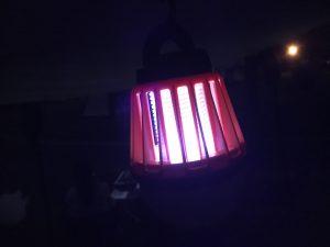 電撃殺虫ランタンの明るさ