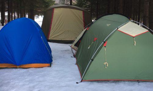 北海道の氷点下冬キャンプの準備