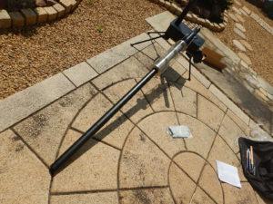 薪ストーブの煙突の挿し方