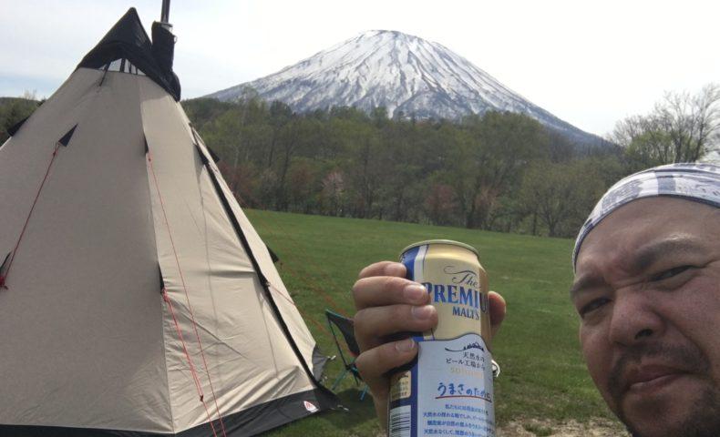 京極キャンプ場でローベンスチェロキー初張りと薪ストーブIN