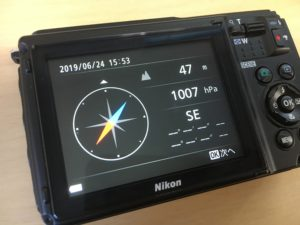 Nikon W300のコンパス