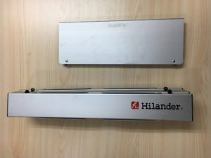 アルミロールテーブルとフィールドホッパー大きさ比較