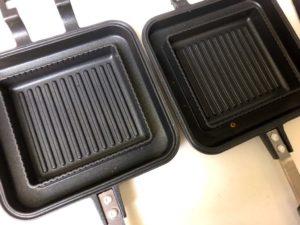 アイリスオーヤマの具だくさんホットサンドメーカーは分離してフライパンにもなる