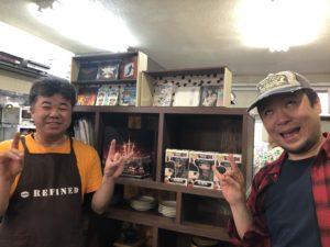 珈琲庵refined朝日店の店長さんとキャンプ王