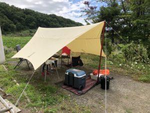 キャンプ王のプライベートキャンプ場でBBQ