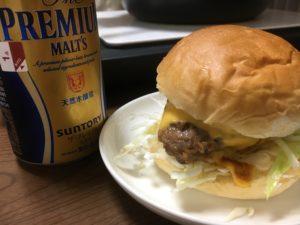 米久ハンバーグでハンバーガー