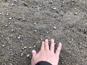 ちょっと固まった火山灰